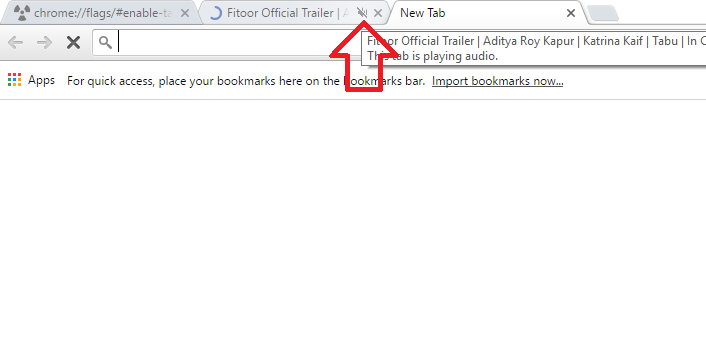 How to mute audio for a tab in Google Chrome?