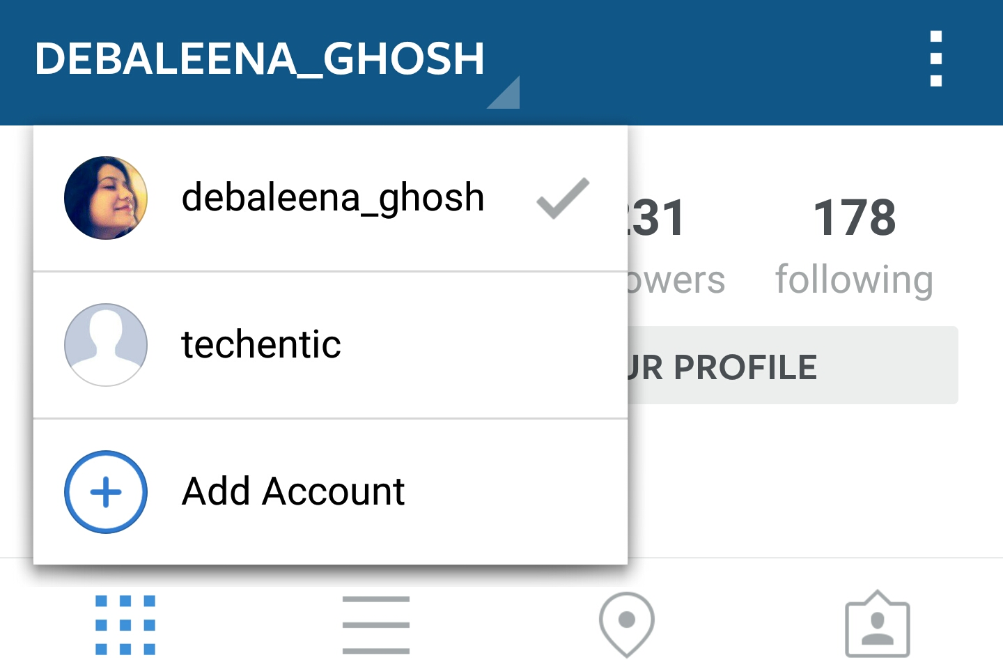 How to add Multiple Accounts in Instagram App for Android?