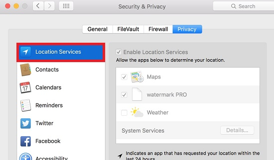 How to check which apps are using Apple's location services in OS X?
