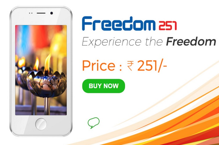 Ringing Bells Launches Smartphone Freedom 251 in India Priced at Rs 251 ($4 USD)