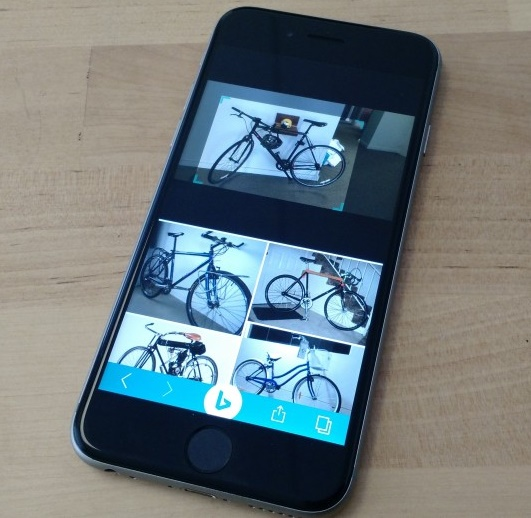 Bing for iOS now allows users to search images by taking a photo