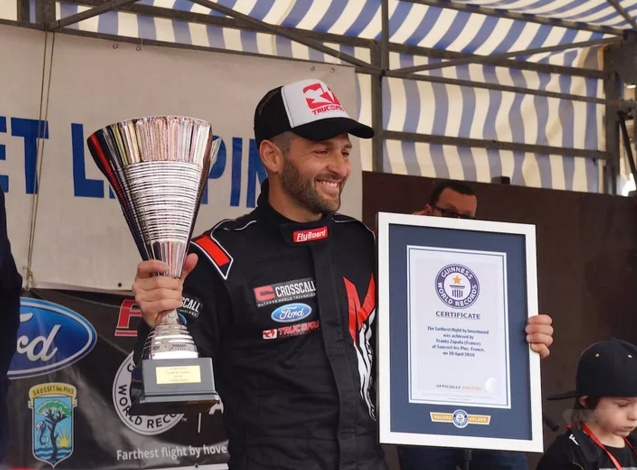 Flyboard Air: Franky Zapata sets Guinness World Record for jet hoverboard