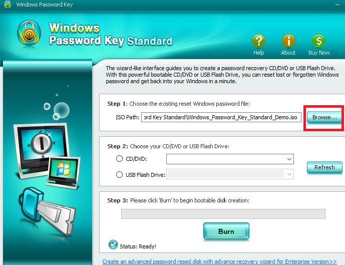 Windows Password Key: Recovering Windows lost Windows Password in Windows 7