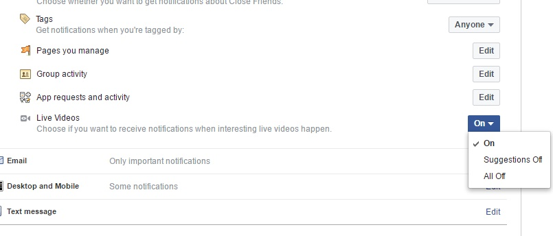 How to Turn Off Facebook Live Video Notifications?