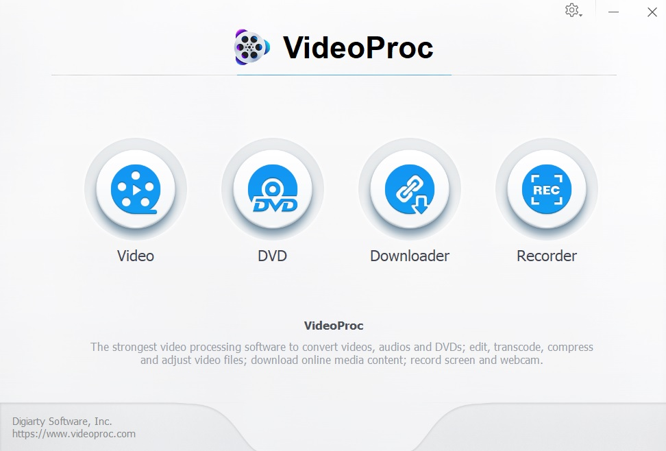 video proc UI