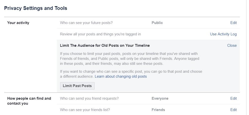 limit past posts