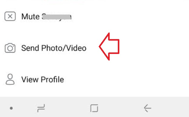send photo video over Facebook stories