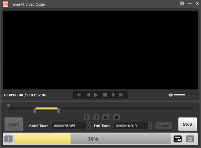 Select the part of the video to cut
