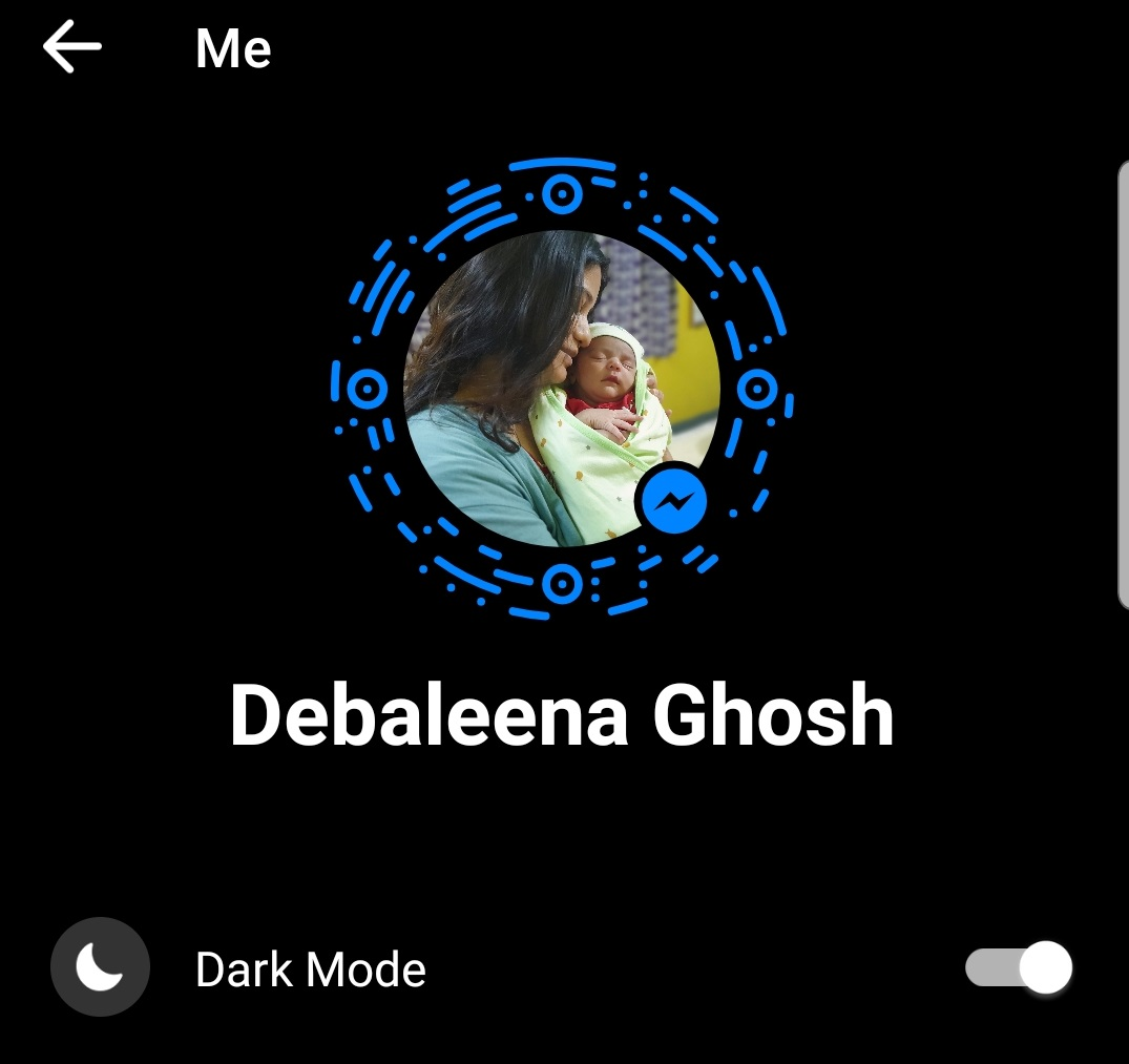 messenger dark mode