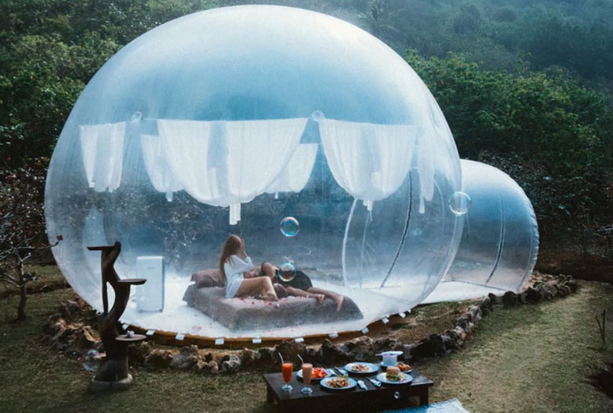 bubble tent tampaksiring