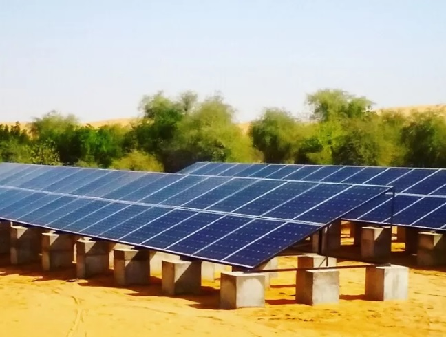 What is the solar power supply system and what are its main benefits