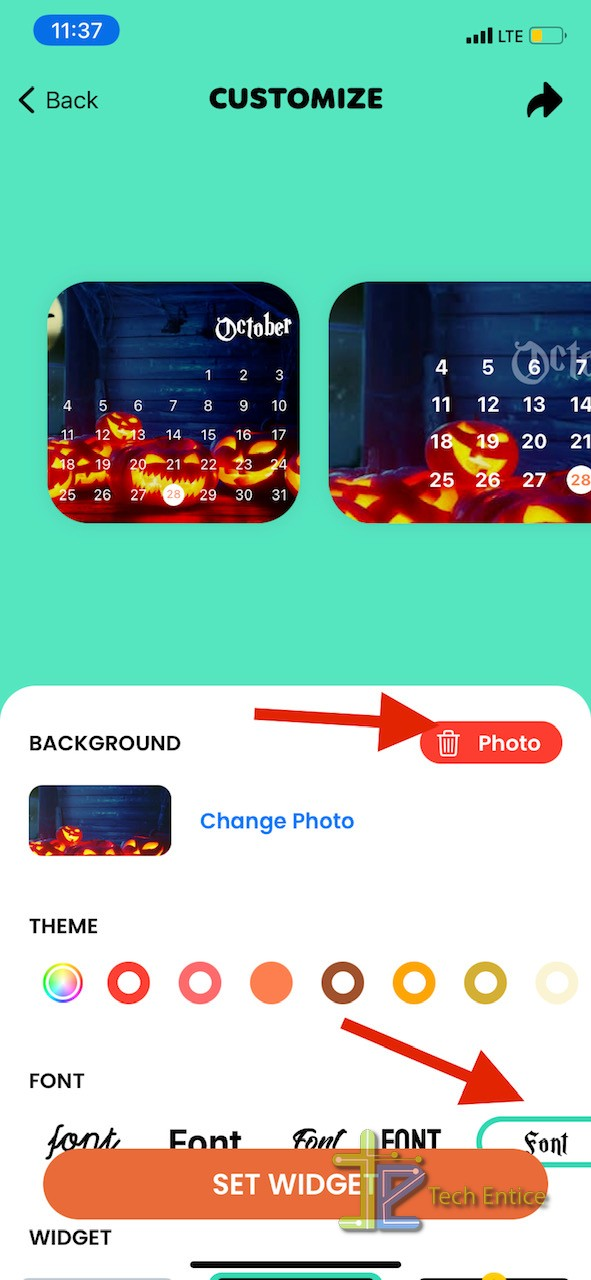 How To Create Halloween Calendar Widget on iPhone in iOS 14?