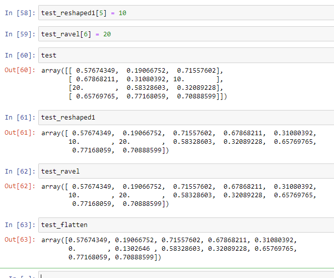 NumPy: Difference between reshape(), flatten(), ravel() – When to use what?