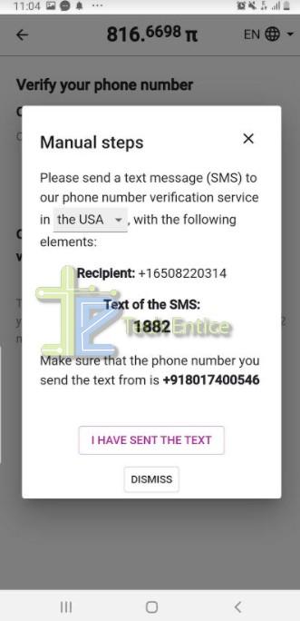 Phone Number Verification on Pi Network