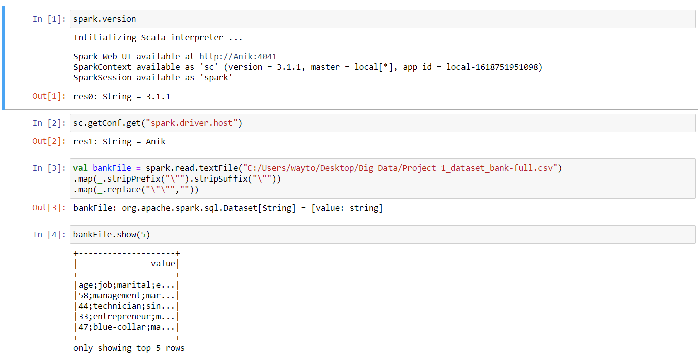 spark with scala on jupyter