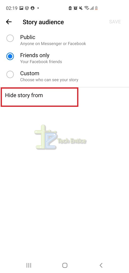How to hide your Facebook Stories from some friends?
