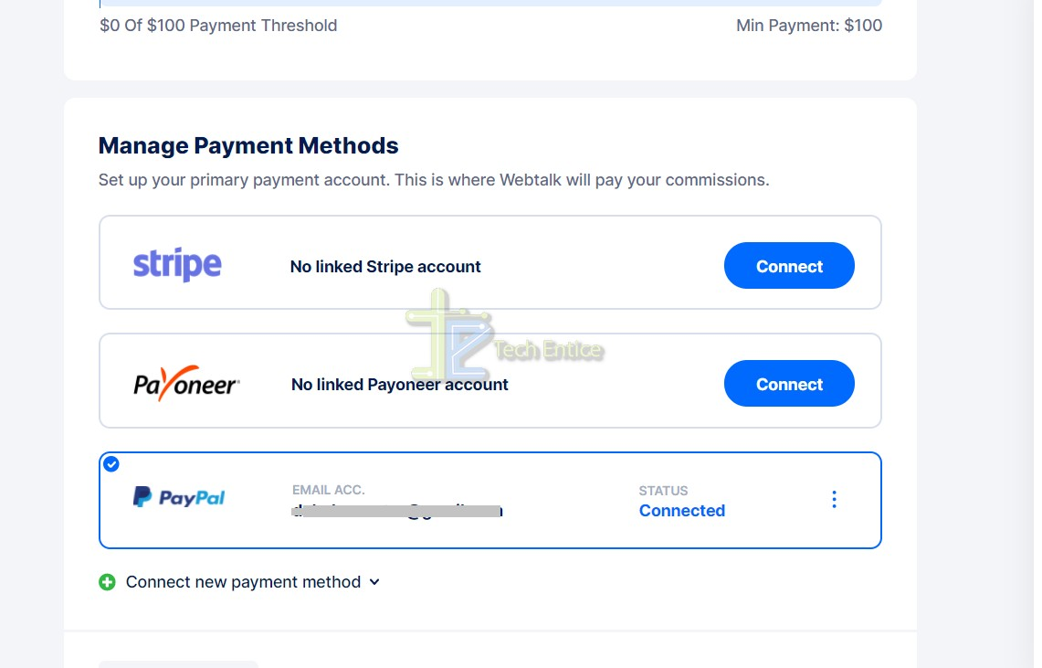 How To Link Your PayPal account To Webtalk Account?