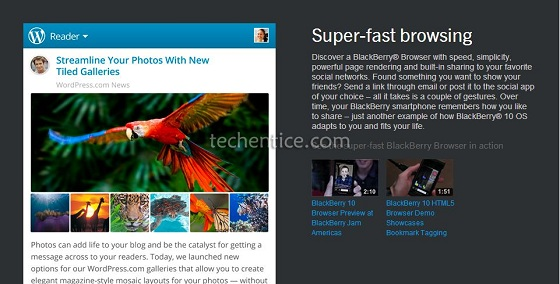 BlackBerry 10 Browser