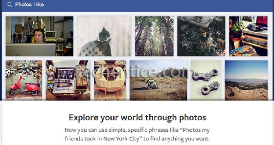 Facebook graph photo search